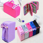 Top Drawing Sketching Pencil Case Holder Bag 6 Colors For 72Pcs Holes Portable