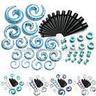24 Pairs Acrylic Ear Taper Stretcher Spiral Tunnels Plugs Expander Gauges Kits