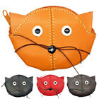 Adults / Childrens Small Genuine Leather Cat Coin Purse