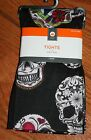 NWT Target Adult Halloween Black Skull Tights ~ Various Sizes~