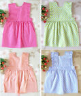 Girls Baby Toddlers 6Colors Apron Children Baking Party Polka Dot Kitchen Cook