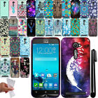 For Asus ZenFone 2E TPU PATTERN SILICONE Rubber GEL Soft Case Phone Cover + Pen