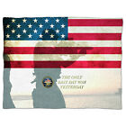 Navy Seals USA Fleece Blanket - Baby Soft Faux Fur Throw