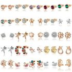 New Fashion Women Lady Elegant Crystal Rhinestone Ear Stud Earrings Ear Clip