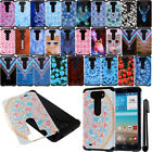 For LG G Vista VS880 G Pro 2 Lite ShockProof HYBRID HARD SOFT Case Cover + Pen