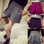 Womens Classic Quality Wool Blend Loose Shorts Winter Casual Wool Short Pants