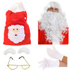 DELUXE 6 PIECE SANTA FANCY DRESS ACCESSORY SET FATHER CHRISTMAS DRESS UP OUTFIT
