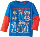 % Transformers 2fer Optimus Prime Long Sleeve Toddler Boys T-Shirt - Royal
