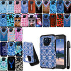 For Samsung Galaxy S6 Active G890 Shockproof HYBRID HARD BACK Case Cover + Pen