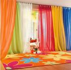 Valances Colors Floral Tulle Voile Door Window Curtain Drape Panel Sheer MSYG