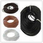 High Quality 2mm Real Round Leather Cord 5/10/50/100M Fit Necklace Bracelet