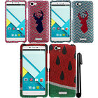 For BLU Studio Energy D810 DIAMOND BLING CRYSTAL HARD Case Phone Cover + Pen