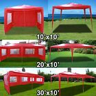 New Deluxe Red Outdoor Party Wedding Tent Gazebo Events Pavilion - Choose
