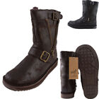 Lambland Ladies Genuine Quality Leather Sheepskin Boots - Black, Brown