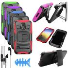 Headphone For Straight Talk Samsung Galaxy S5 S902L LTE Holster Cover Earphone
