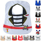 Cute Toddler Cartoon Dress Style Solid Waterproof Baby Bib Infant Saliva Towel
