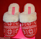 Ladies Cooler Slippers Open Back Red  : Christmas Slippers