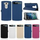 Luxury PU Leather Window-View Flip Stand Case Cover Skin for LG V10 F600