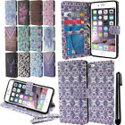For Apple Iphone 6 Plus 5.5 inch Flip Wallet LEATHER Skin POUCH Case Cover + Pen