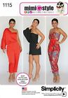 Simplicity Ladies Easy Sewing Pattern 1115 Jumpsuits in 3 Styles (Simplicity-...