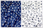 Sailor Nautical Print Polycotton Dress Fabric (Sailor-M)