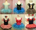 Halloween Lovely Leopard Girl Party Ballet Tutu Dress Free Headband 2-8Y Costume