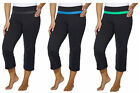 Kirkland Signature Women's Active Yoga Capri Pants w/ Back Zipper Size Small