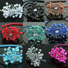 Elegant Women Beautiful Faux Pearl Bridal Hairband Plastic New Fashion 10 Colors