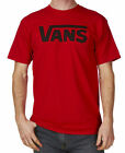 T-SHIRT VANS CLASSIC BLOOD RED BLACK SIZE S MAGLIA SKATE SNOWBOARD SURF