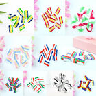 100pcs Candy Colors Round Strip Buttons Sewing or Scrapbooking Craft 4 Holes