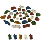35 Children Kids Climbing Holds Starter Set Rock Wall Grab Holds Grip Stones