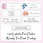 120 Wedding Sticker Tag Label Bomboniere Favor Bubble Envelope Seal Engagement