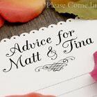 White/Kraft Personalised Wedding Advice Card Well Wishes Guest Book Alternative