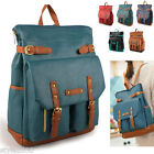 NEW Unisex Backpack Style Satchel Book Bag Casual School Bag Faux Leather