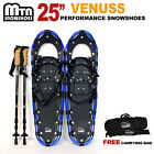 "New MTN 25"" BLUE All Terrain Snowshoes + Nordic Pole + Free Carrying Bag-choose"
