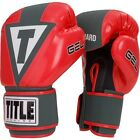 Title Boxing Gel Aerovent Washable Hook and Loop Fitness Gloves - Red/Dark Gray