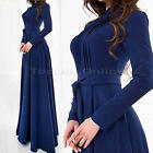 Kaftan Abaya Islamic Muslim Cocktail Womens Long Sleeve Vintage Long Maxi Dress