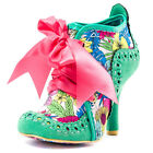 Irregular Choice Abigail 3rd Party Womens Fabric Green Floral Heels
