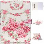 Beautiful Floral Rose Magnetic Flip PU Leather Card Stand Case Cover For Tablets
