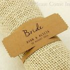 Personalised Brown Kraft Napkin Ring Wedding Place Cards