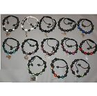 Bracelet STYLE SHAMBALLA Crystals & macrame + PENDANT COUNTRY STEEL To the