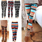 Warm Womens Winter Christmas Snowflake Knitted Leggings Cotton Stockings
