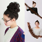Long Twining Wavy Curly Weave Hair Bun Synthetic Ponytail Hair Extension New