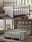 Florida Metal Victorian Bed Ivory Black 3ft Single 4ft6 Double 5ft King Size