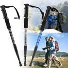 Hiking Trekking AntiShock Walking Stick Pole Retractable Adjustable Compass