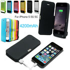 Extra 4200mAh USB Power bank Pack backup battery Charging Case for iPhone5 5S 5C