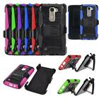 Phone Case For LG Tribute 5 - Boost Mobile Rugged Cover Stand Holster Belt Clip