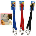 REFLECTIVE DOG COUPLER LEAD DUPLEX DOUBLE TWIN 2 WAY TWO PET PUPPY WALKING LEASH