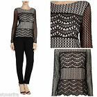 NEW COAST ANAYA LACE TOP TUNIC BLACK NUDE PARTY OCCASION CURRENT SIZE 8 - 18