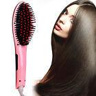 Professional Irons Electric Straight Hair Comb Straightener Iron Brush